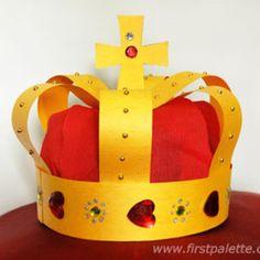 Middeleeuwse kroon knutselen - Mamaliefde