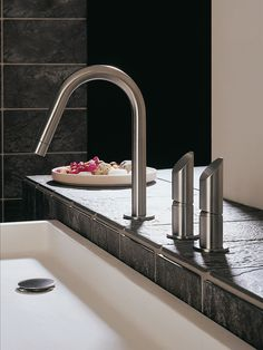 MGS stainless steel taps, mixers and shower fittings are made in Italy. The state-of-the-art MGS factory combines high technology with a handcrafted approach – this results in a traditional brass tap like no other.  http://www.cphart.co.uk/view-our-brochures/ #bathrooms #bathroomideas #luxurybathrooms