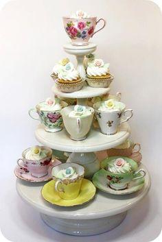cupcake nas xícaras
