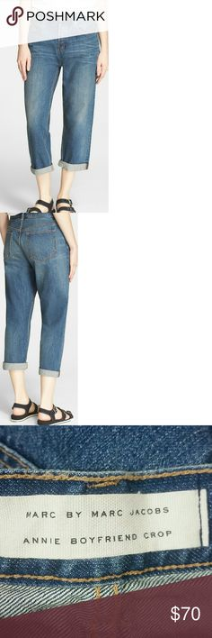 """Marc by Marc Jacobs Annie Boyfriend Crop Vintage Blue Never worn Sold out everywhere! Length - 34"""" Inseam - 23"""" Rise - 11"""" Marc by Marc Jacobs Jeans Boyfriend"""