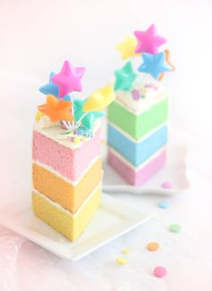 ♡ Cotton candy : Pastel Layer Cake with Swiss Meringue Buttercream Recipe Pretty Cakes, Cute Cakes, Beautiful Cakes, Swiss Meringue Buttercream, Buttercream Recipe, Pastel Cakes, Dessert Blog, Cake Gallery, Love Cake