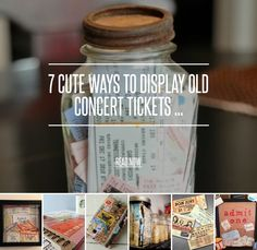 7. Decoupage Journal - 7 Cute Ways to Display Old Concert Tickets ... → DIY