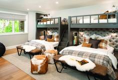 Cabin Bunk Beds, Bunk Beds For Boys Room, Queen Bunk Beds, Bunk Bed Rooms, Bunk Beds Built In, Bedrooms, Bunk Beds For Adults, Adult Bunk Beds, Custom Bunk Beds