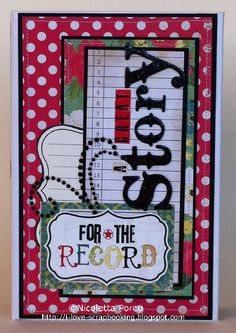 "I Love Scrapbooking: ""A great Story"" mini album"