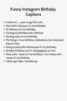 frases Birthday Captions frases Birthday Captions frases Birthday Captions frases Birthday Captions captions for instagra. Birthday Captions Instagram, Attitude Caption For Instagram, Instagram Picture Quotes, Instagram Captions For Selfies, Instagram Funny, Instagram Baddie, Good Bios For Instagram, Instagram Captions Boyfriend, Birthday Post Instagram