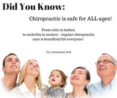 Chiropractic is for EVERYONE!  Get started today!