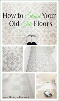 Learn how to stencil your floors like a pro. It is much easier than you think! #floordecor #homedecor #stencil