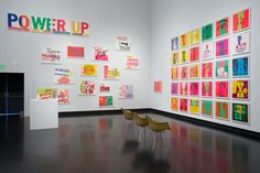 """Someday is Now: The Art of Corita Kent"" 2013 Installation view Courtesy the Frances Young Tang Teaching Museum at Skidmore College / photo Arthur Evans"