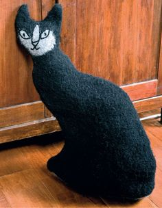 Felted Cat Doorstop Pattern