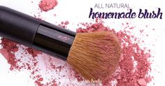 All Natural Homemade Blush : arrowroot powder hibiscus powder (like this) cinnamon (optional)
