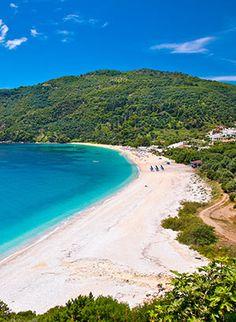 Griekse vakantie Epirus & Parga: strand Travel Around The World, Around The Worlds, Greece, Camping, Water, Holiday, Outdoor, World, Straw Handbags