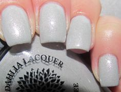 Lily Of The Valley, 3 coats, 1 coat of Seche top coat, with flash