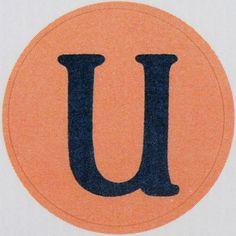 Vintage Sticker Letter u | Flickr - Photo Sharing!