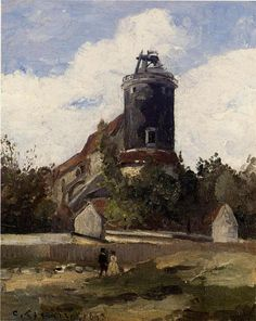 The Telegraph Tower at Montmartre, 1863, Camille Pissarro Medium: oil on canvas