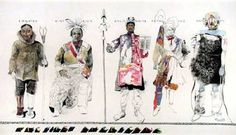 jack unruh illustrations | from auction house records portraits of five american indians artwork