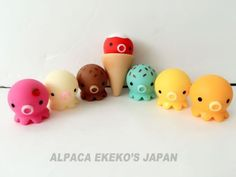 RARE-TAKOCHU-KAWAII-OCTOPUS-MASCOT-SALE-LOT-SET-OF-7-Figure-Anime-Japan-B665