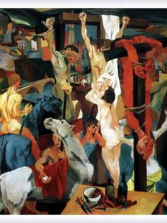 Renato Guttuso (1912-87), an Italian artist and Polemicist. Guttuso's work is concerned with the struggle and poverty of the Sicilian people where he lived. This is understandable due to Gutt…