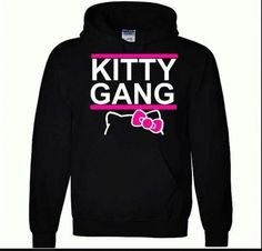 Hello Kitty gang hoodie; of course I'd rock it...