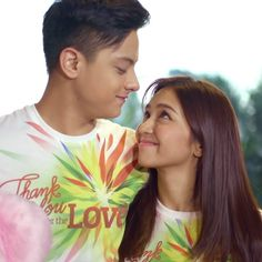 """This is Kathryn and Daniel smiling and staring at each other during the recording of the 2015 ABS-CBN Christmas station ID, """"Thank You for the Love! Queen Of Hearts, Blue Hearts, Inigo Pascual, Pinoy Movies, Daniel Johns, Enrique Gil, Daniel Padilla, Liza Soberano, John Ford"""