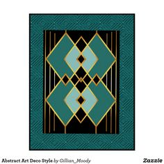 Abstract Art Deco Style Poster | Zazzle.com