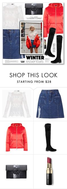"""""""LOVE YOINS"""" by nanawidia ❤ liked on Polyvore featuring BCBGMAXAZRIA, Topshop and Bobbi Brown Cosmetics"""