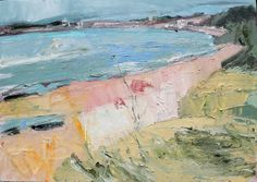 "Ges Wilson; Oil 2012 Painting ""Penzance from Long Rock Sold"""