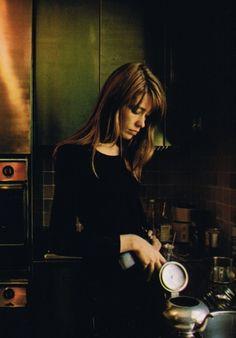 Francoise making tea