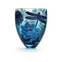 'Four Seasons' Vase, Summer  :  Asprey.  Mouth-blown, hand-carved lead-free glass