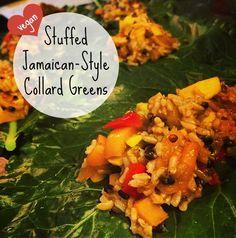 Stuffed Collard Greens Vegan Recipe