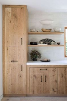 Wooden Kitchen Cupboards WOOD KITCHEN - Timber is an usual product utilized in construction, especially in the cooking a. Wooden Kitchen Cabinets, Kitchen Cupboard Designs, Home Decor Kitchen, Interior Design Kitchen, Home Kitchens, Küchen Design, Layout Design, Design Ideas, Design Trends