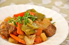 "Slow cooked Beef with vegetables or ""Basterma"" - Delights Of Culinaria"