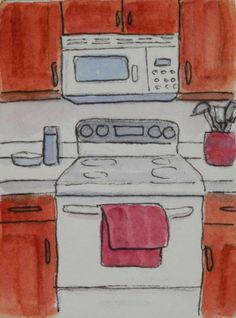 Watercolors by Joan 2: Kitchen Sketches
