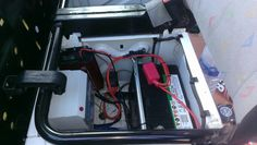 Crafter passenger seat. DC31, mains RCD and TV1220M.