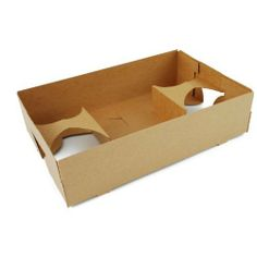 """Food & Drink Tray / Carrier / Holder - Brown Kraft Paper Concession Pop up Carry-out Box 12ct by PrettySweetParty. $7.99. Convertible design easily adapts to hold food only, or one to four cups.. On-the-Go Kraft carrier features """"Pop Up"""" construction for easy set up and convenient storage.. Sturdy packaging made from premium paperboard. Packed flat, finished size: 10"""" length x 6-1/2"""" wide x 2-1/2"""" depth.. These paperboard trays are perfect for holding food and..."""