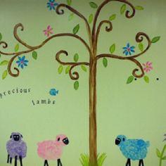 1000 images about church nursery ideas on pinterest for Church nursery mural ideas