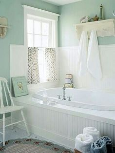 Pastel Colors mint and white very simple great..