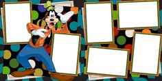Disney Goofy premade scrapbook pages! We offer designs in both Physical AND digital formats. Just add photos!