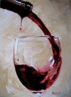 Ruthie V. Fine Art & Murals: Wine Glass