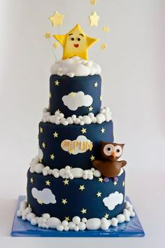 Twinkle Twinkle Little Star Cake by www.sillybakery.nl