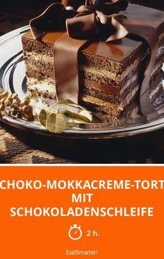 Schoko-Mokkacreme-Torte mit Schokoladenschleife - smarter - Zeit: 2 Std.   eatsmarter.de