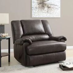 Stanford Faux Leather Chair and a Half Recliner $249