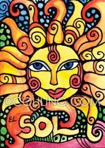 46 El Sol (The Sun) La cobija de los pobres. The Sun is the blanket of the poor. ©Cindy Couling