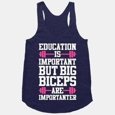 Big Biceps Are Importanter | HUMAN | T-Shirts, Tanks, Sweatshirts and Hoodies