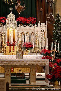 Catholic christmas altar decorations
