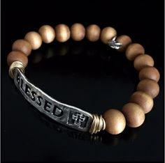 Wooden Blessed stretch bracelet