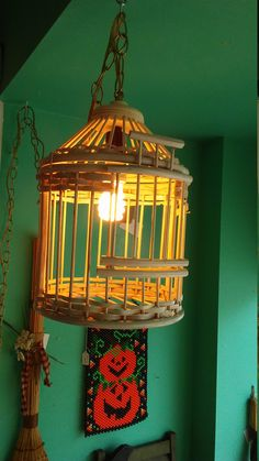 Cottage Chic Cream Colored Wooden Rattan Bird Cage Swag Light with Gold Chain. Versatile Home Decor. by TheRustyBucketVT on Etsy Etsy Christmas, Christmas Gifts, Rustic Man Cave, Swag Light, Presents For Her, Living Room Lighting, Bird Cage, Cottage Chic, Rattan
