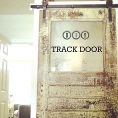 Make your own track door hardware. A DIY tutorial & gorgeous door track inspiration!