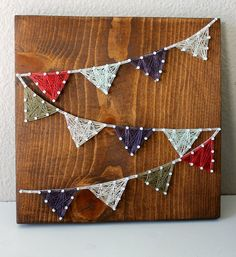 Limited Edition String Art - Triangle Flag Banner  by EvoLovelyDesigns