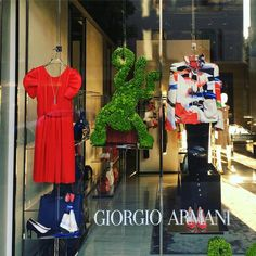 """GIORGIO ARMANI, London, UK, """"A wise monkey never monkeys with another monkey's monkey"""", photo by Windowshoppings, pinned by Ton van der Veer"""