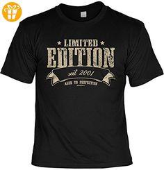 T-Shirt - Limited Edition Seit 2001 - lustiges Sprüche Shirt als Geschenk zum 16. Geburtstag (*Partner-Link)